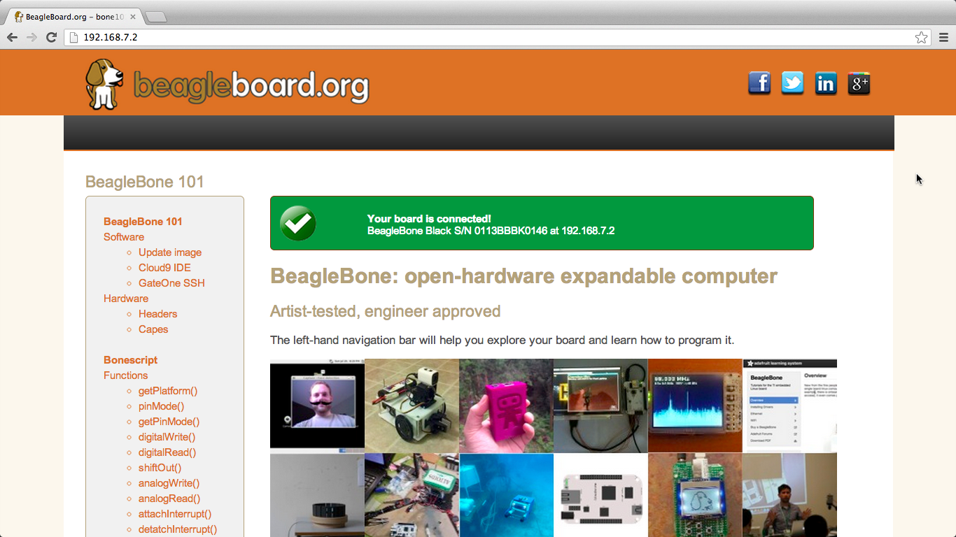 BeagleBoard org - getting-started